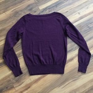 The Limited Sweaters - The Limited Purple Lightweight Crew-Neck Sweater
